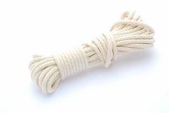 Wrapped white cord Royalty Free Stock Photo