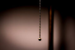 The cord. Detail of a cord of a lamp with shallow depth of field royalty free stock photo