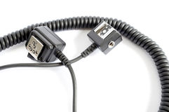 Cord for flash and photo-camera Royalty Free Stock Image