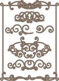 Cord frame. Vector illustrations - old-fashioned cord frame royalty free illustration