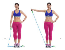 Cord lateral raise Stock Images