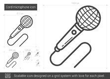 Cord microphone line icon. Stock Images
