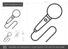 Cord microphone line icon. Stock Image