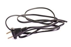 Cord with an plug. On a white background isolation royalty free stock image