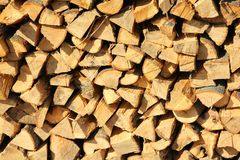 Cord of Seasoned Firewood Royalty Free Stock Image