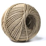 Cord skein, hemp roll, linen cord natural ball, isolated on white. Background stock photos