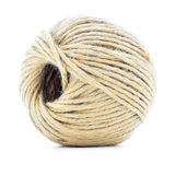 Cord skein, hemp roll, natural ball isolated on white background Royalty Free Stock Image