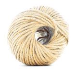 Cord skein, jute roll, braided ball isolated on white background Stock Photos