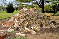 Cord of Split Firewood Stock Photos