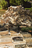 Cord of Split Firewood Royalty Free Stock Photos