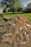 Cord of Split Firewood Royalty Free Stock Images