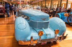 1936 Cord 810 Sportsman car at Motorclassica. Motorclassica is Australasia's premier event for vintage, classic and exotic motoring enthusiasts. It is stock image