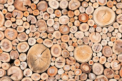 Cord Wood Fence Royalty Free Stock Photography