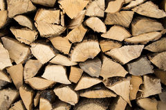 Cord Wood. Stacked Close Up Stock Image