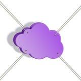 Corda allungata nuvola Illustrazione di Stock