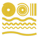 Corda amarela Fotografia de Stock Royalty Free