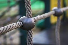 Corda amarrada da rede Imagens de Stock
