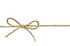 Corda amarrada em uma curva Fotos de Stock Royalty Free