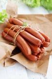 Corda amarrada salsichas Imagem de Stock