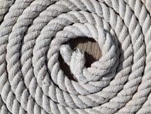 Corda arrotolata Fotografia Stock