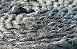 Corda arrotolata fotografie stock libere da diritti