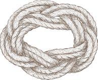 Corda arrotolata Fotografia Stock Libera da Diritti