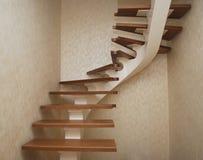Corda bege metálica - um projeto para a construção das escadas na casa Fotos de Stock Royalty Free