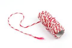 Corda branca vermelha Imagem de Stock