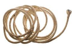 Corda coiled isolada foto de stock royalty free