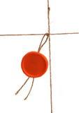 Corda com selo Imagem de Stock