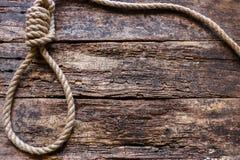 Corda com um nó corrediço foto de stock