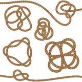 Corda con il nodo celtico Fotografie Stock