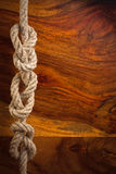 Corda con un nodo Fotografia Stock
