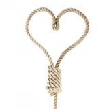 Corda-coração foto de stock royalty free