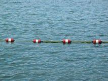 Corda da barreira do nadador imagens de stock
