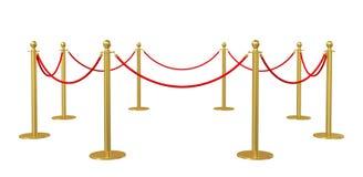 Corda da barreira no fundo branco Imagens de Stock