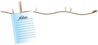 Corda da lavanderia com clothpins Imagens de Stock