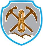 Corda da picareta do alpinismo do alpinismo Fotos de Stock