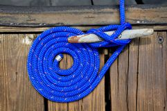 Corda de barco azul Fotografia de Stock