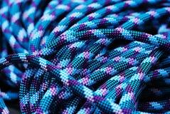 Corda de escalada azul fotografia de stock royalty free