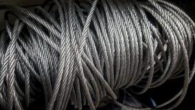 Corda de fio de aço, ou cabo Imagens de Stock