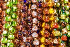 Corda de grânulos colorida Imagens de Stock Royalty Free