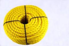 Corda de nylon amarela Fotografia de Stock