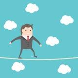 Corda de passeio do homem de negócios ilustração do vetor