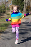 Corda de salto bonito da menina, colorida! Imagens de Stock