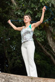 Corda de salto da mulher Fotos de Stock