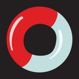 Corda de salvamento do ícone em um fundo neutro Fotografia de Stock Royalty Free