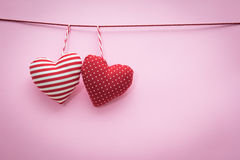 Corda de suspensão dos corações do Valentim Imagem de Stock