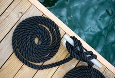 Corda dell'yacht Fotografia Stock
