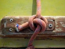 Corda dell'yacht del particolare Fotografia Stock